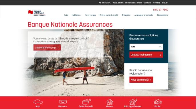 VotreArgent.ca - Banque Nationale Assurance sans coeur